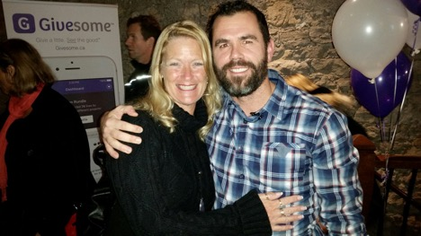 Kirsten Flynn with Jay Whitelaw, Founder & Executive Director of Givesome™